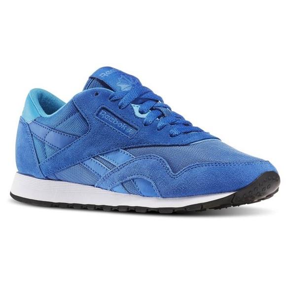 e49a374529 Women Reebok Blue Classic Nylon Magic Shoes US 7.5